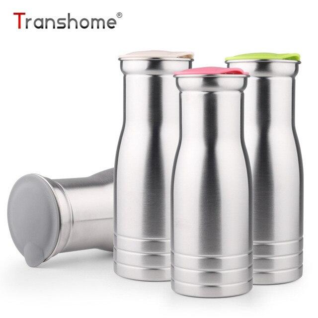 Transhome Stainless Steel Bottle 1000ml Large Capacity Korean Style