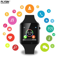Smart watch men touch screen support SIM card bluetooth camera compatible with both Android IOS made by PLYSIN X1