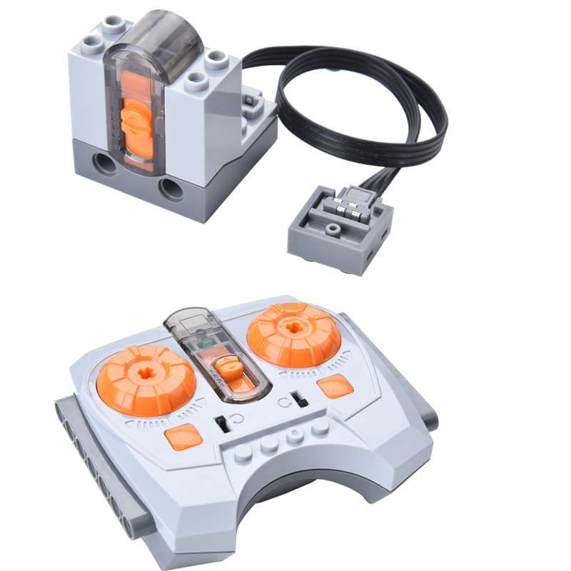 Variable Speed Remote Control Power Machinery Wireless Remote Receiver Battery Box Switch Building Blocks Toys Compatible 8879