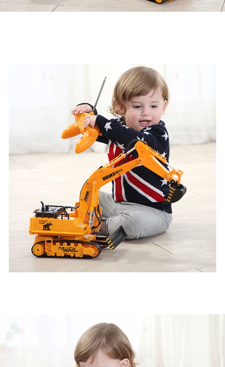 Large 11 Channels RC Excavator RC Car Remote Control Toys Car Electric Excavator Charging Electric Vehicle Toys For Kids Boys 18