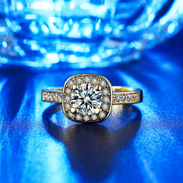 CC Jewelry Fashion Jewelry Rings For Women Luxury Rose Gold Color Square Stone Party Bridal Wedding Engagement Ring Bijoux CC627 3