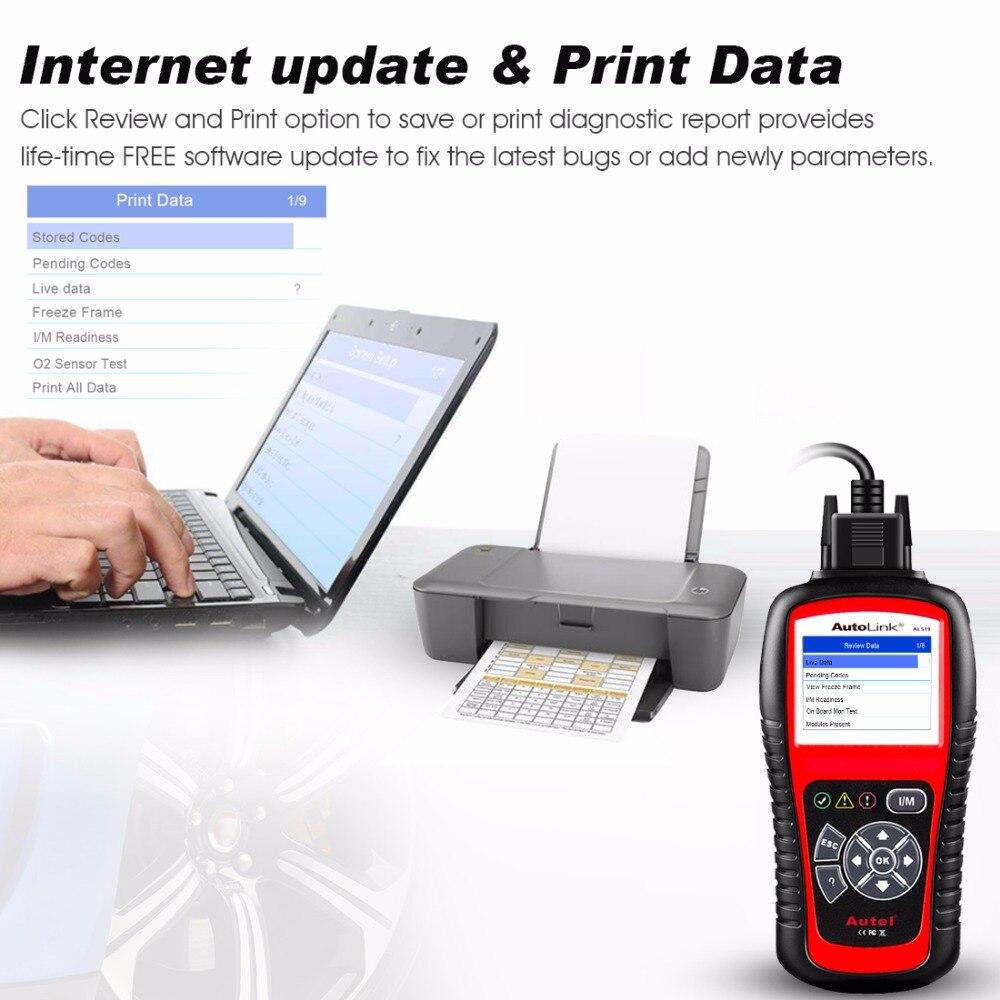 Image 4 - Autel AL519 OBD2 Scanner Diagnostic Tool Car Code Reader Escaner Automotriz Automotive Scanner Car Diagnostic Better than elm327