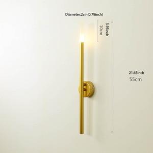 Image 2 - Moderne nordique fer ligne de tuyau LED applique chevet veilleuse chambre salon allée applique luminaire mural décor Art