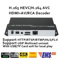 ESZYM H.265/H.264 4K 1080P Decoder with CVBS&HDMI output repleace topbox &PC for our HDMI/VGA/SDI Encoder
