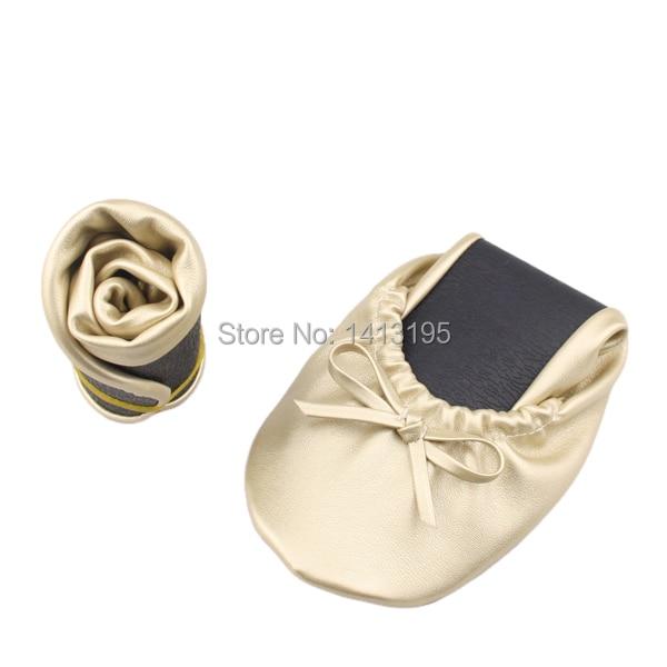 9d43af85d60 Las mujeres de género bailarinas plegables baratas de cuero plegable  bailarina zapatos