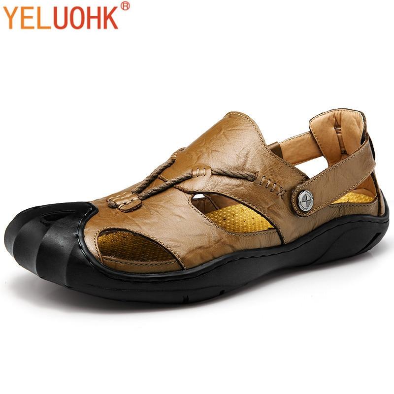 2017 Sommer Schuhe Männer Sandalen Aus Weichem Leder Sandalen Männer Schuhe