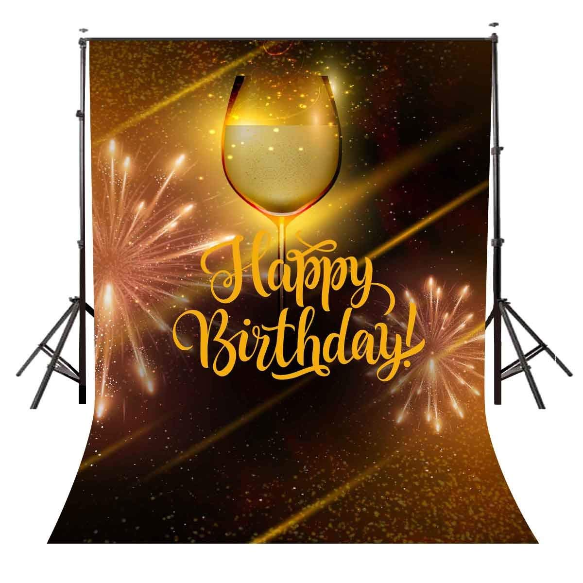 150x220cm Wine Luminous Cup Backdrop Wine Luminous Cup Birthday Theme Photography Background and Birthday Party