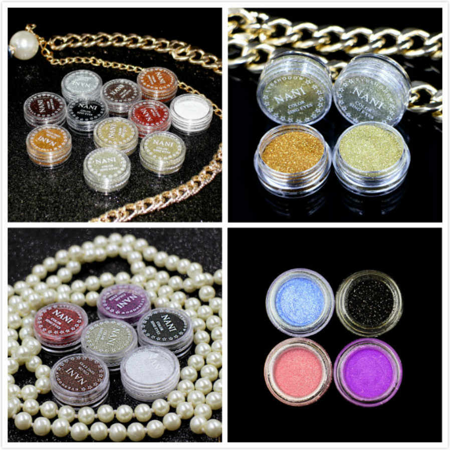 Pearl White 23 Color Glitter Eyeshadow Powder Pigment Mineral Spangle Makeup Cosmetic Set Waterproof Long-lasting Smooth Makeup