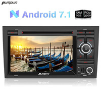 Pumpkin 2 Din 7 Android 7 1 Car Radio DVD Player For Audio A4 GPS Navigation