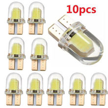 DXZ 10pcs LED W5W T10 194 168 COB 8SMD Led Parking Bulb Auto Wedge Clearance Lamp CANBUS Bright White License interior light