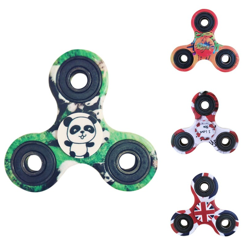 Printing Panda EDC Camouflage Hand Spinner For Autism and ADHD Anxiety Stress Relief Focus Fingger Spinner Toys new style edc round three corner camouflage hand spinner for autism and adhd anxiety stress relief focus toys