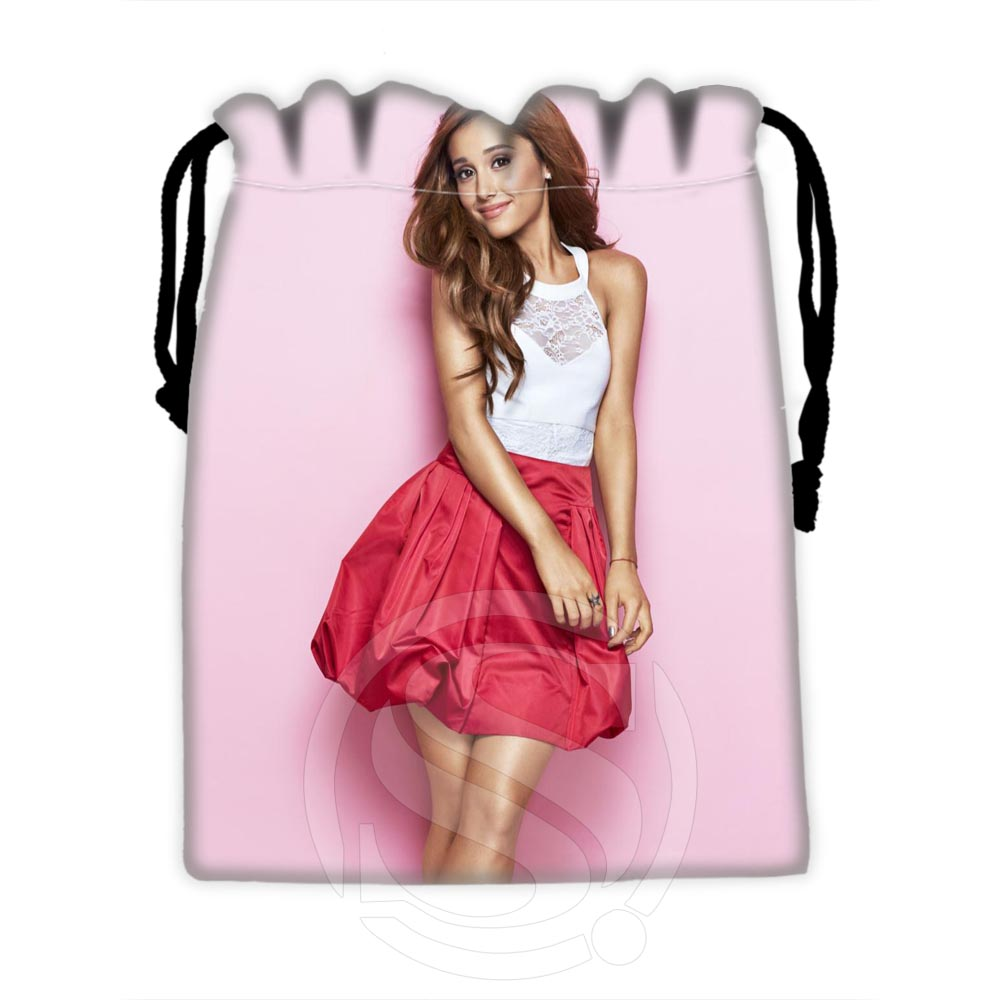 H-P611 Custom Ariana Grande #8 Drawstring Bags For Mobile Phone Tablet PC Packaging Gift Bags18X22cm SQ00806#H0611