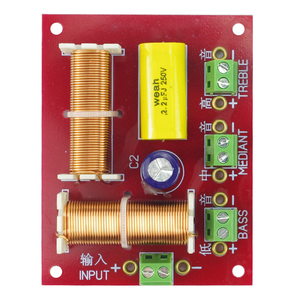 Image 5 - GHXAMP 200W głośnik 3 sposób Crossover Audio góra + połowy + bas niezależny filtr dzielnik częstotliwości 2 sztuk