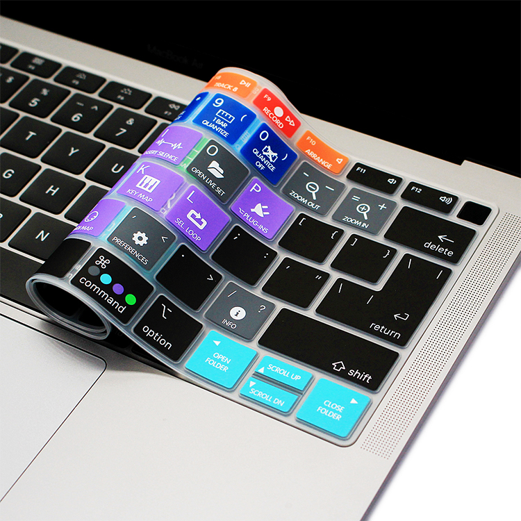 HRH Ableton Live Hotkey Silicone Laptop Keyboard Cover Skin For MacBook Newest Air 13