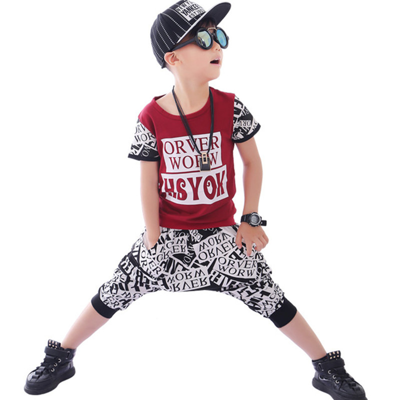 Children Clothing sets T Shirt+Harem Pants Cotton 2pcs Set Boys Clothes Sets 2018 Summer Baby Boy Outfits Kids Sports Suit