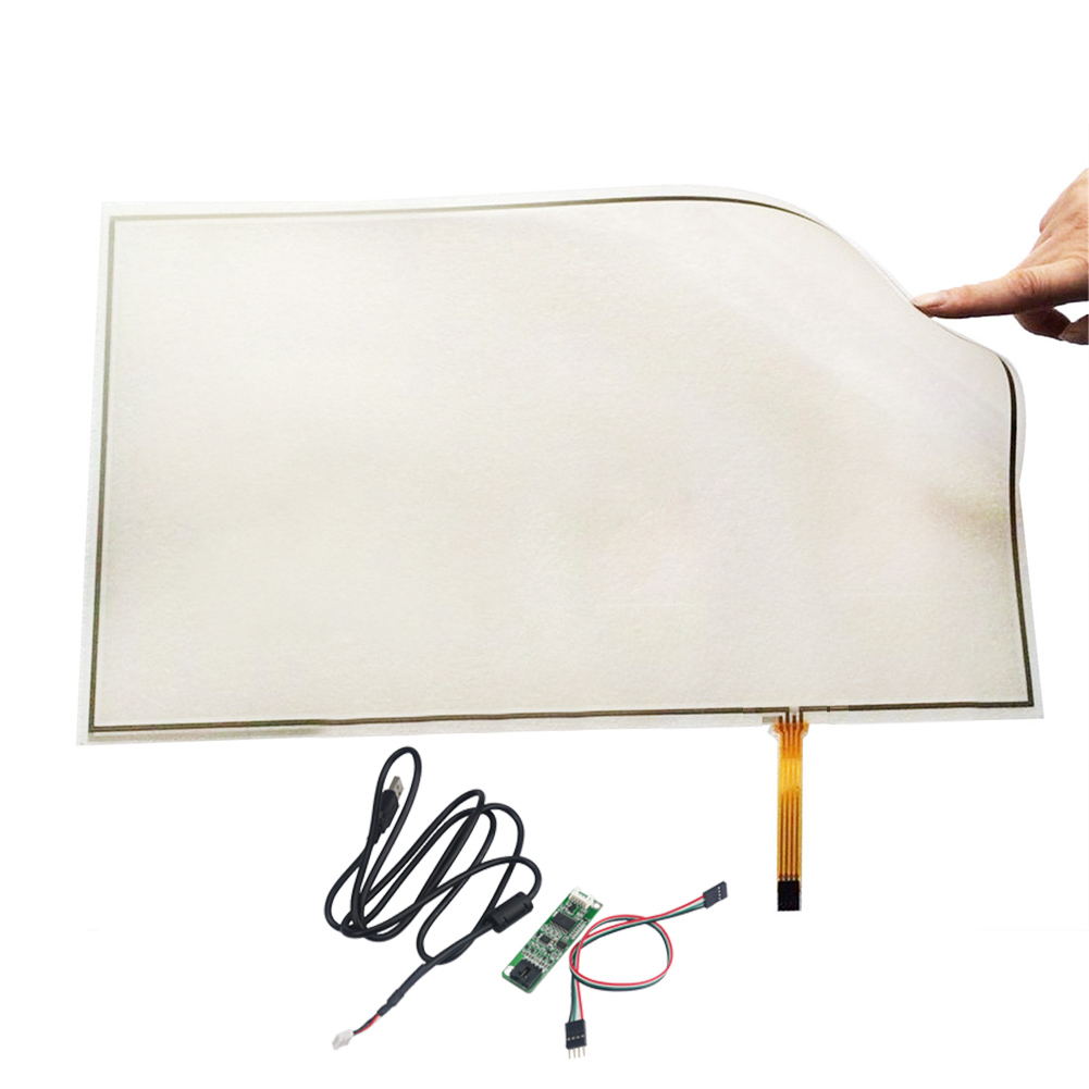 Original 495*292 Double Membrane Soft Screen with USB Touch Screen Controller 21.5inch 4-wire Resistive Touch Screen amt 146 115 4 wire resistive touch screen ito 6 4 touch 4 line board touch glass amt9525 wide temperature touch screen