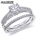 Classic 14K 585 White Gold Ring Diamond Solitaire Bridal Sets Engagement Ring 1CT Moissanites Lab Grown Diamond Wedding Sets