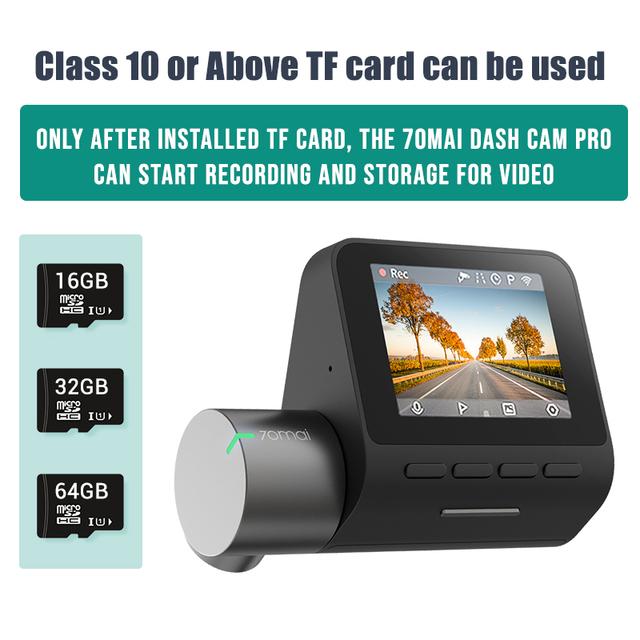Voice Control Car Dash Camera : WiFi DVR24H Park 70 MAI