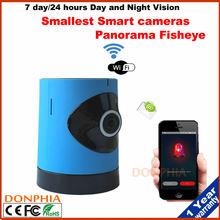 Hot Sale P2P Wifi IP Camera 720P CMOS Wifi CCTV IP Video Camera WIFI Fisheye Webcam support Mobile view email alarm Plug & Play