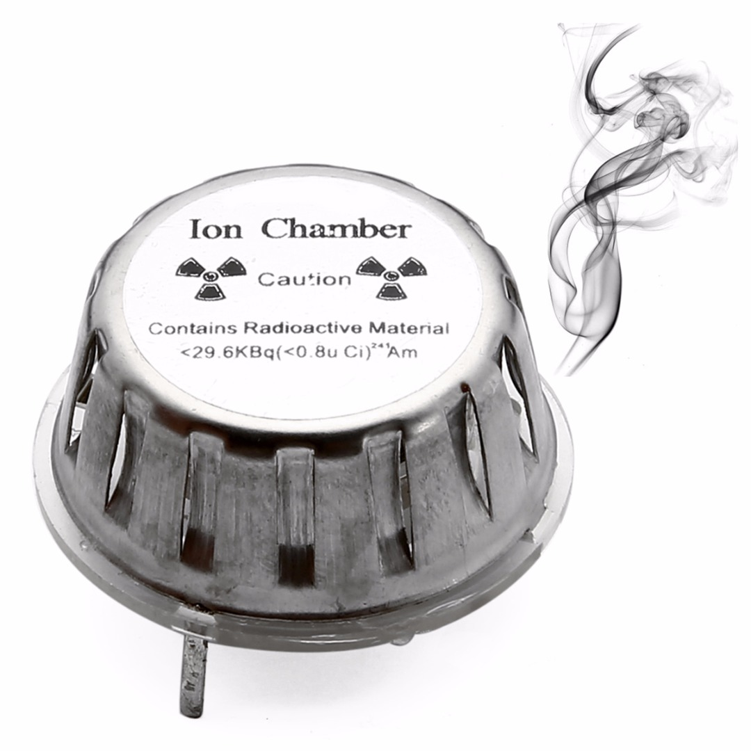 1pc Metal Smoke Detector Sensor Ion Chamber Geiger Counter Check Test Source with High Corrosion Resistance