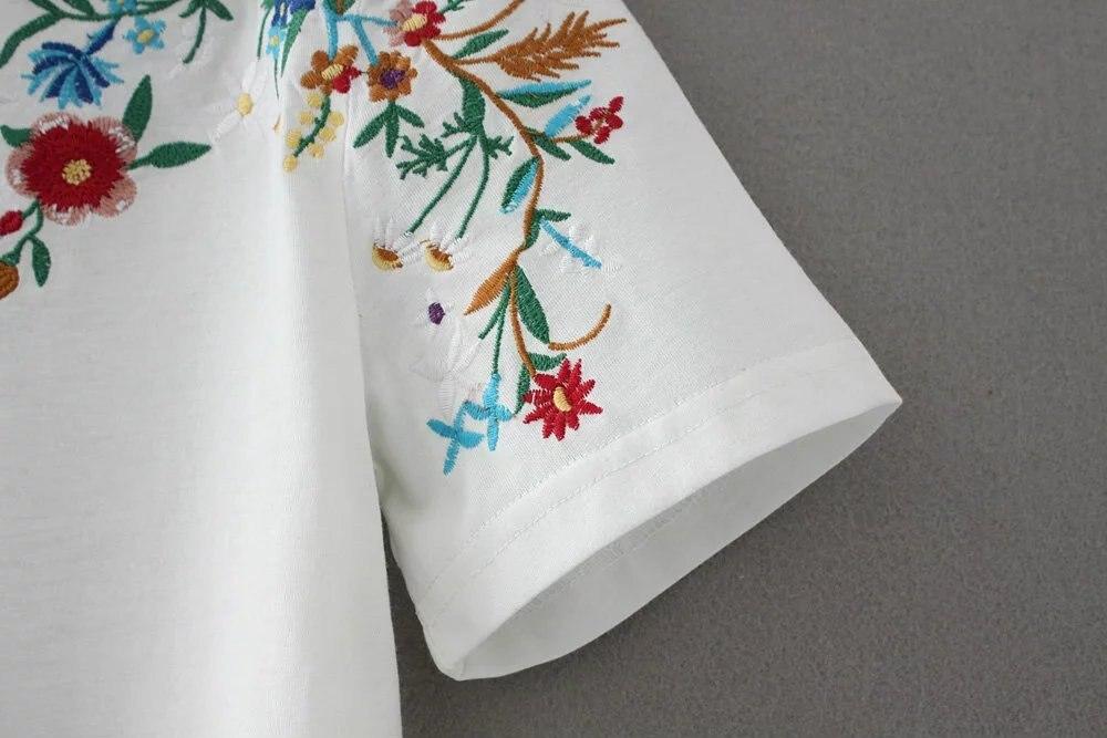 HTB1QoxfQpXXXXb.XFXXq6xXFXXXZ - Women Cotton Slim Floral Tshirts Casual Street Daily