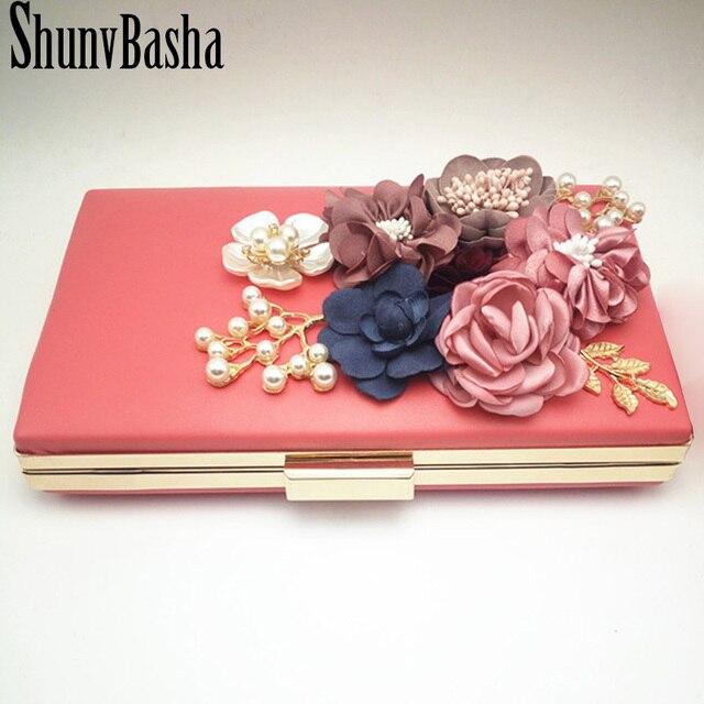 ShunvBasha Luxury Crystal Evening Clutch Bag Elegant Women Handbag Lady Wedding Purse Party Rhinestones Pearl Wallet