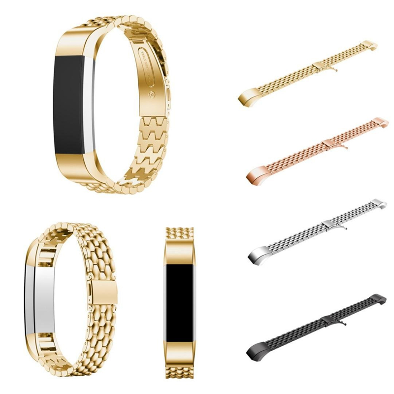 New Fashion Stainless Steel Watch Band Wrist strap for Fitbit Alta HR/Fitbit Alta Metal Bracelet Replacement Wristband for Alta