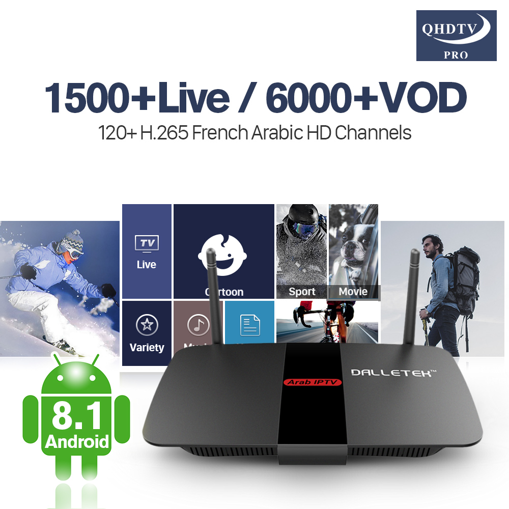 Receiver TV Box France R1 Arabic 4k IPTV WiFi RK3229 H.265 Decoder IPTV Code Italy Spain Lebanon Tunisa UK Germany IP TV 1 Year