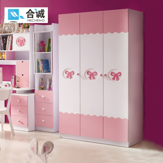 Merveilleux Childrenu0027s Wardrobe Solid Wood Furniture Suite Three Wardrobe Teen Girl  Princess Wooden Wardrobe Closet