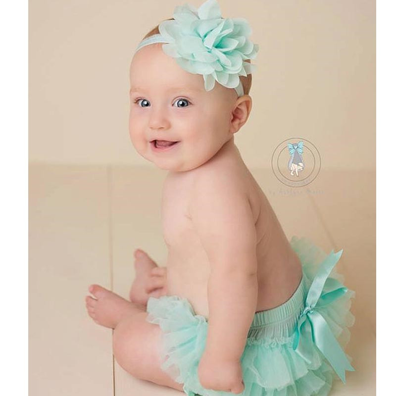 2017 Baby Bloomers With Ruffles Cotton Diaper Cover And Headband Set Baby Girl Summer Bloomer Chiffon Shorts For Newborn