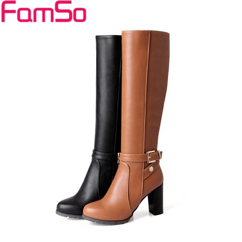 Plus Size 34 43 2016 New Sexy font b Women b font Autumn high heels Boots