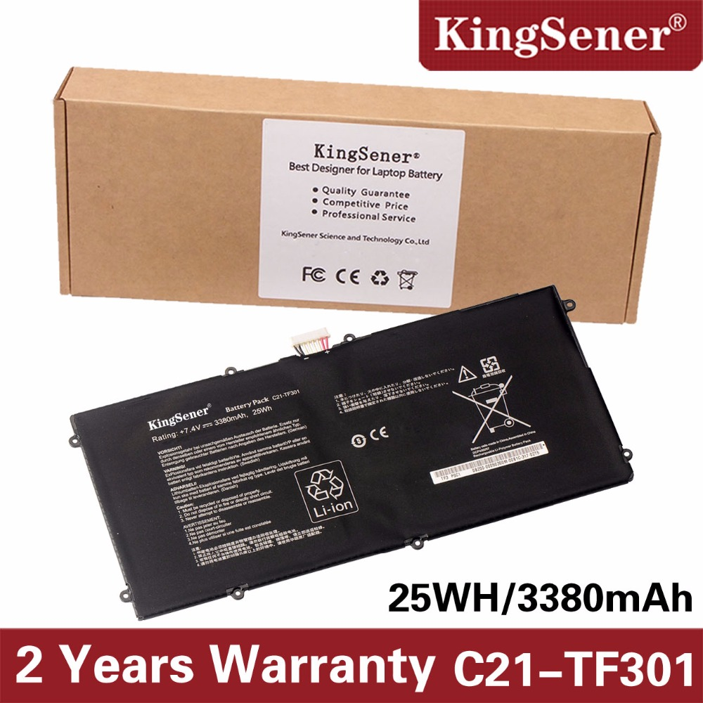 все цены на KingSener New C21-TF301 Battery for ASUS Transformer Pad Infinity TF700 TF700T Tablet C21-TF301 2ICP4/95/97 7.4V 3380mAh 25WH онлайн