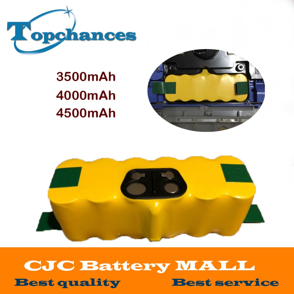 3500mAh 4000mAh 14.4V 4500mAh Ni-MH Vacuum Battery for iRobot Roomba 500 560 530 510 562 550 570 581 610 650 790 780 532 7603500mAh 4000mAh 14.4V 4500mAh Ni-MH Vacuum Battery for iRobot Roomba 500 560 530 510 562 550 570 581 610 650 790 780 532 760