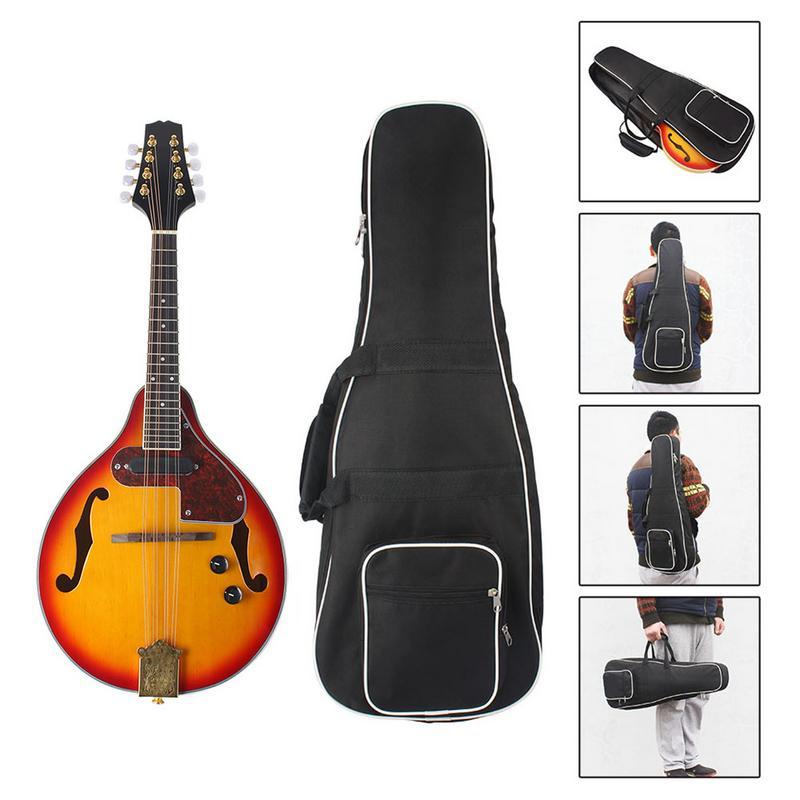Un Type hêtre boîte électrique acoustique-électrique mandoline Piano 8 cordes guitare musicale à cordes Instruments amoureux cadeau - 5