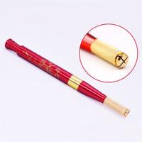 1PCS 3D Red Microblading Lucky Manual Pen Permanent Makeup Eyebrow Tattoo Machine Tattoo Equipment