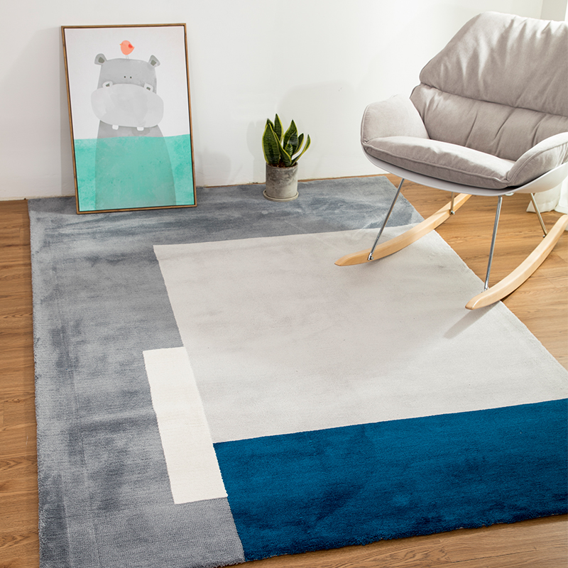 Japanese style  plaid  1.5cm thickness bedside rug , living room coffee table carpet, big size Nordic decoration ground  mat