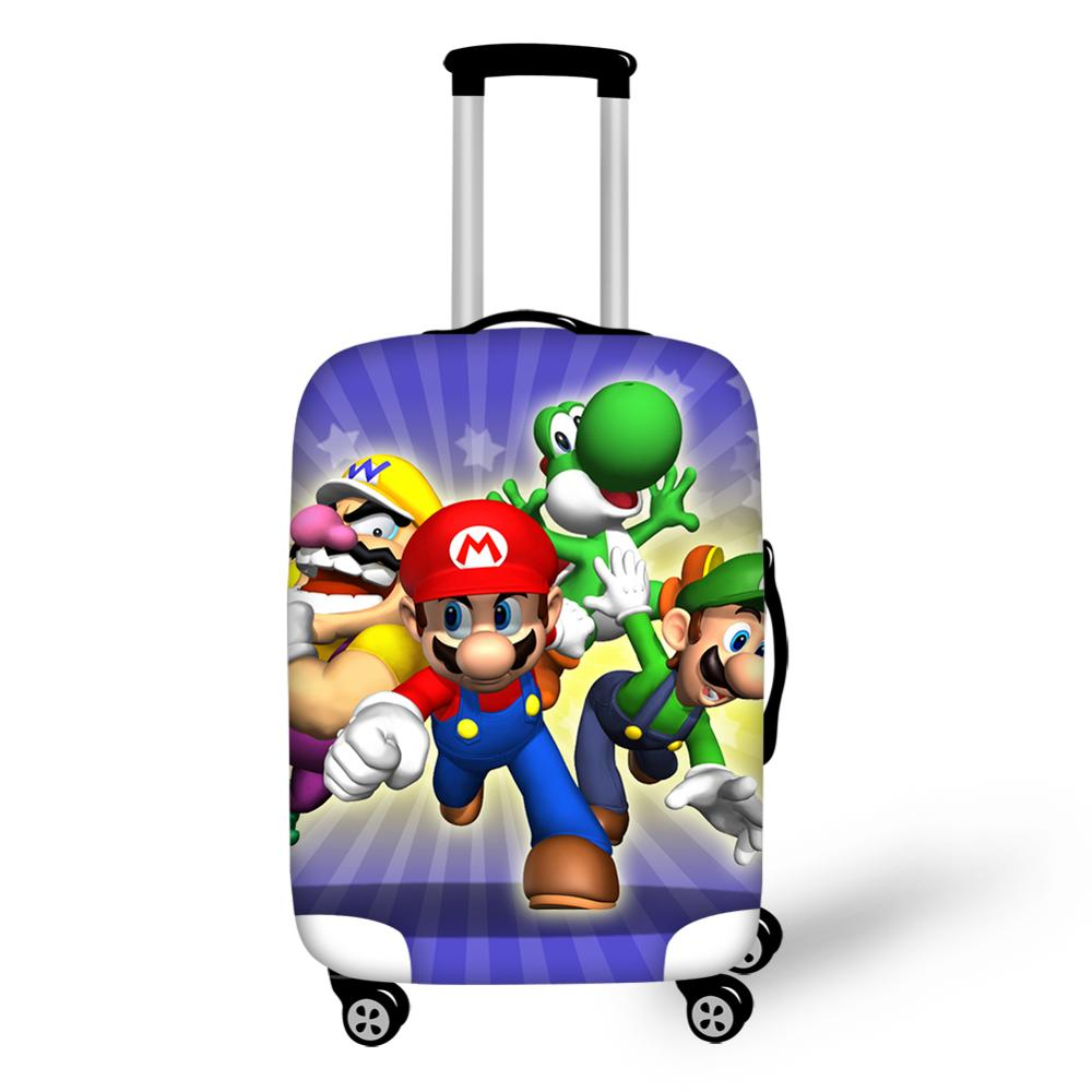 Thikin Mario Travel Luggage Cover for Teens Boys Cartoon School Trunk Suitcase Protective Cover Travel Bag Protector Jacket in Travel Accessories from Luggage Bags