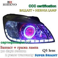 Hireno Modified Headlamp For Kia Rio 2006 2011 Headlight Assembly Car Styling Angel Lens Beam HID