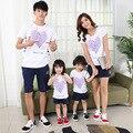 2017 niños coreanos del verano de algodón de manga corta t-shirt madre padre bebé clothing camisetas parejas al por mayor directa de la fábrica