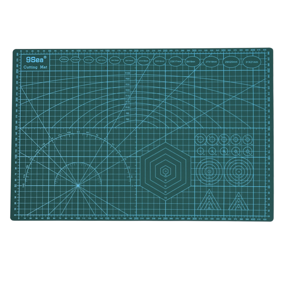 A3 PVC Cutting Mat Pad Self-healing Double-sided Rotary DIY Paper Tool Grid Lines Carving Board For Arts Crafts Sewing Quilting