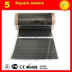TF Riscaldamento a pavimento film 5 metro Quadrato, AC220V film di riscaldamento di infrared 50 cm x 10 m riscaldatore elettrico per camera