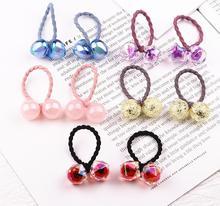 10pcs New Princess Candy Color Ball Kids Elastic Hair Bands Baby Headdress Children Ropes Headwear
