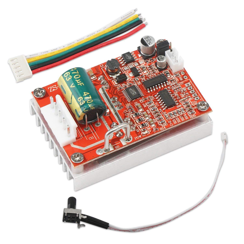 Sin escobillas DC Motor Speed Controller 6-50 V tres frase sin junta 12 V 24 V Motor BLDC controlador regulador 380 W PWM + disipador de calor