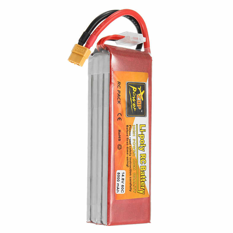 14.8V 5000mAh 4S 60C ZOP Power Lipo Battery Rechargeable XT60 Plug Connector For RC Quadcopter Drone Toys