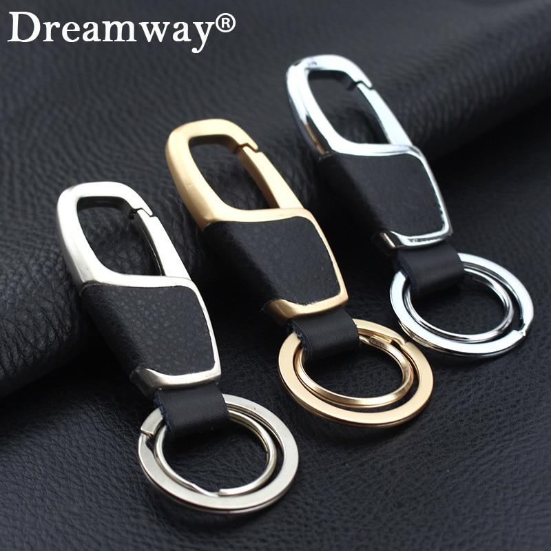 Новое поступление модные цвета: золотистый, серебристый кожаный брелок Для мужчин llaveros de cuero chaveiro порте скрипичный ключ автомобилей Брелоки...