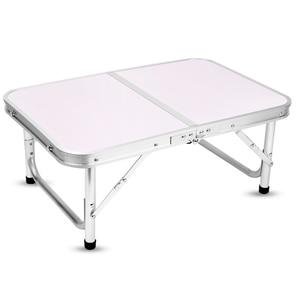 Image 2 - アルミ折りたたみテーブルラップトップのベッドデスク調節可能な屋外のテーブルバーベキューポータブル軽量シンプルな防雨ピクニックキャンプ