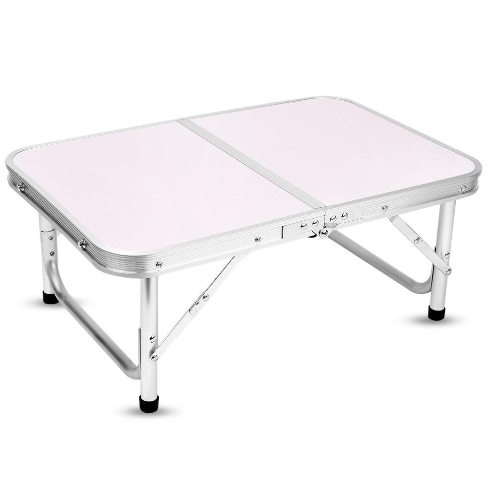 Table pliante en aluminium bureau de lit d'ordinateur Portable Tables extérieures réglables BBQ Portable léger Simple imperméable à la pluie pour pique-nique Camping - 2