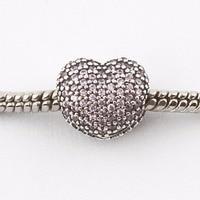 ZMZY Rose Plein Cristal Fermoir Clip Original Solide 925 En Argent Sterling Charmes pour les Femmes Convient Pandora Bracelets Bijoux Cadeau