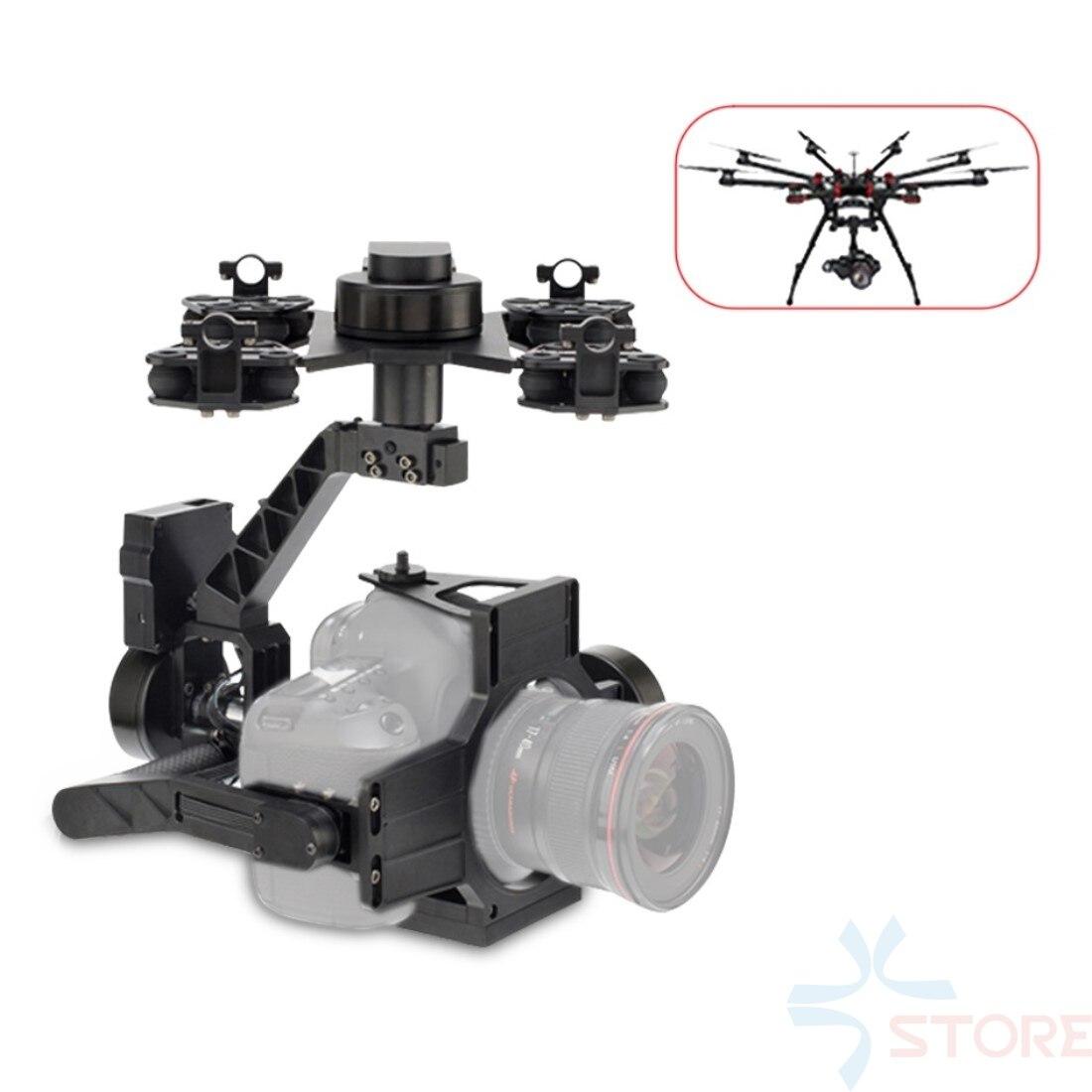 Nouveau support de caméra à cardan aéronef sans pilote (UAV) 3 axes pour photographie aérienne pour Film vidéo DSLR Canon 5D3 Nikon D800 GH4 Sony A7/NEX5 A5100 6000 A7S