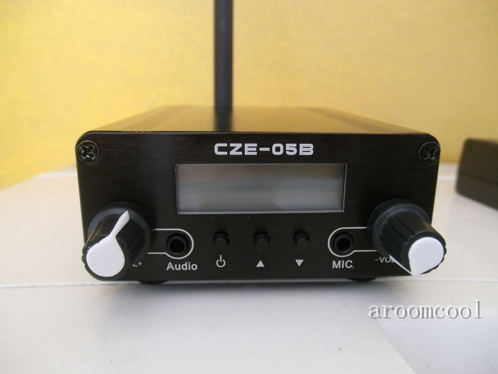 0.5W CZH-05B Stereo PLL FM Radio Broadcast Station Transmitter + Antenna +Power adapter цена